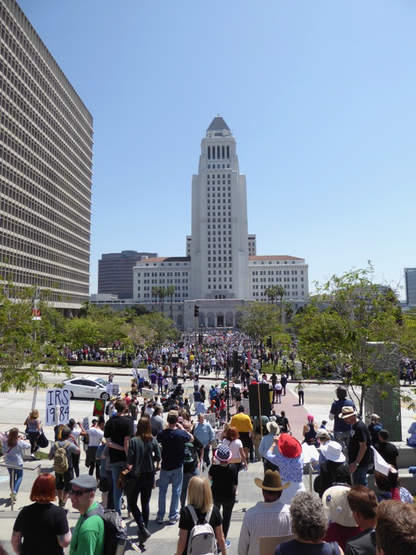 Tax March on LA City Hall