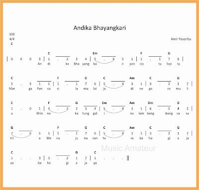 not angka lagu andika bhayangkari