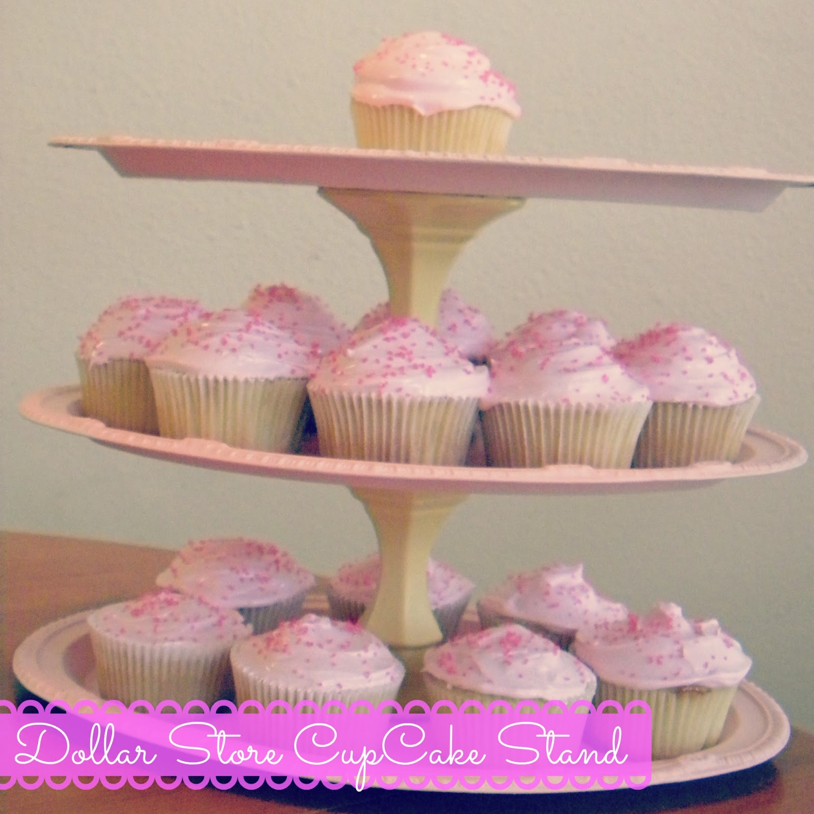 Hot Mama In The City: DIY: Dollar Store Cupcake Stand