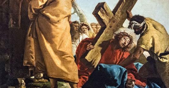 Simon of Cyrene Carries Jesus' Cross