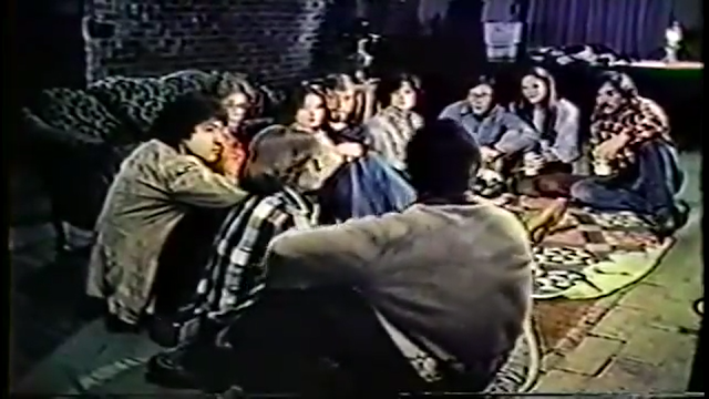 Spending a weekend in a cabin in the woods, a group of college kids tell scary stories in SCREAMS OF A WINTER'S NIGHT (1979)