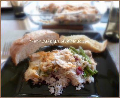 Turkey Dinner Casserole | recipe developed by www.BakingInATornado.com | #recipe #dinner