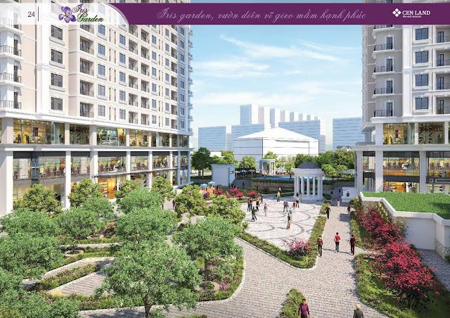 Cảnh quan nội khu dự án Iris Garden