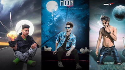Moon photo editing hindi tutorial
