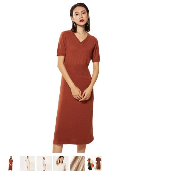 Off The Shoulder Dress - Maroon And Pink Dress - Huge Clearance Sale Clothing