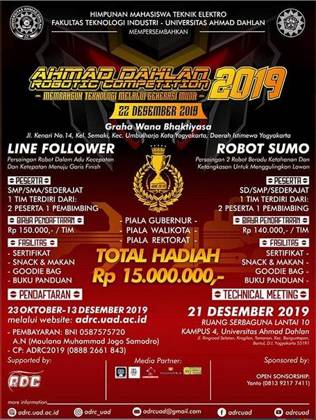 Ahmad Dahlan Robotic Competition 2019 oleh Universitas Ahmad Dahlan