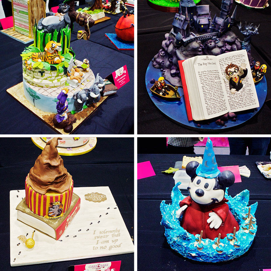 Literature themed cakes at the cake and bake show