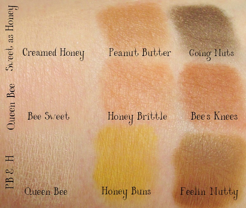 too-faced-peanut-butter-and-honey-eye-shadow-palette-swatches