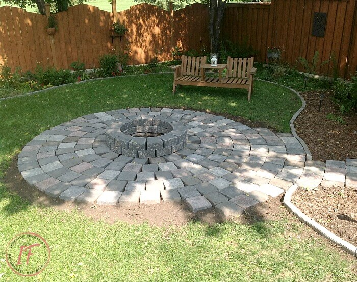 Wood Burning Fire Pit With Roman Pavers