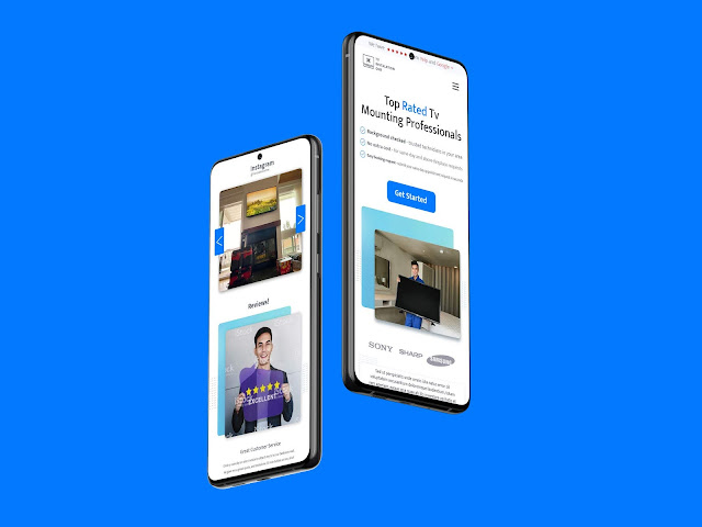 TV INSTALLATION SERVICES Website - UI Design