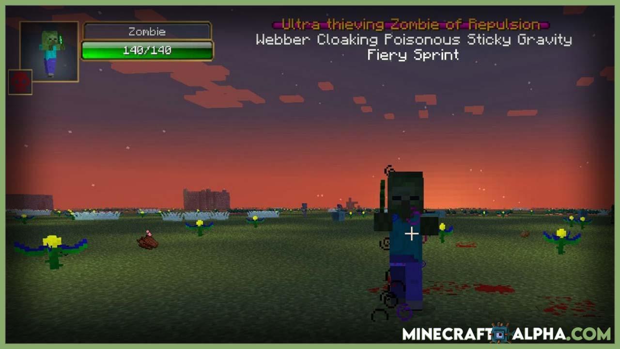 Minecraft Infernal Mobs Mod 1.17.1 (Rare Powerful Mobs)