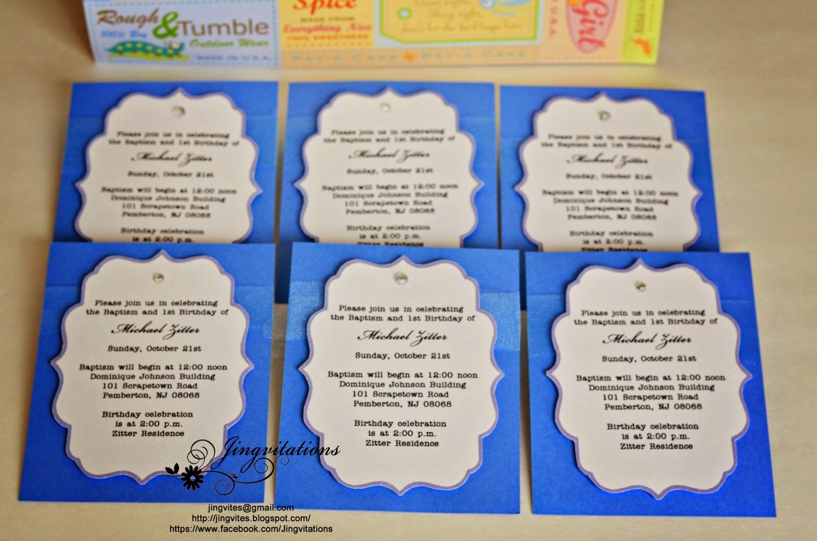 Sample invitation for 7th birthday boy invitationjpg jingvitations baptism and first birthday invitations stopboris Choice Image