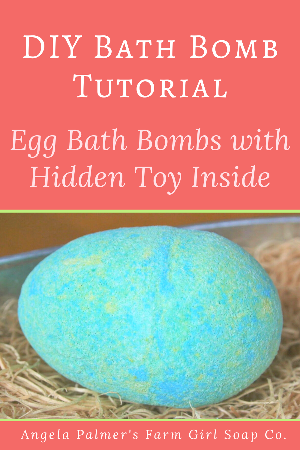 "This recipe for DIY bath bombs for kids is super fun! The egg shaped bath bombs are made with a toy hidden inside. Kids get to watch the eggs ""hatch"" in their bath. Get the bath bomb tutorial now. By Angela Palmer at Farm Girl Soap Co."