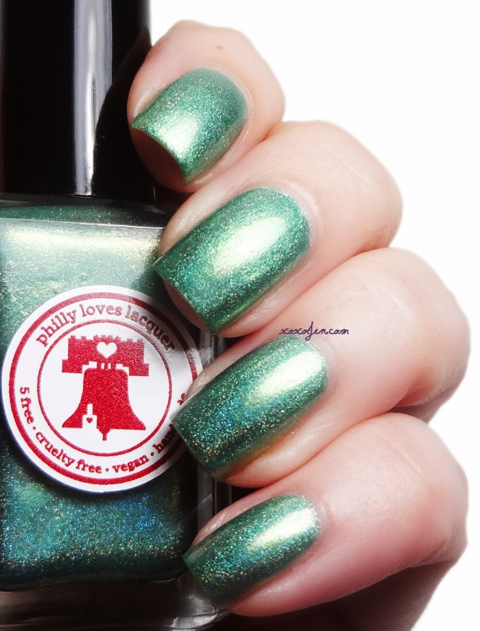 xoxoJen's swatch of Philly Loves Lacquer Fortunate Rainbow
