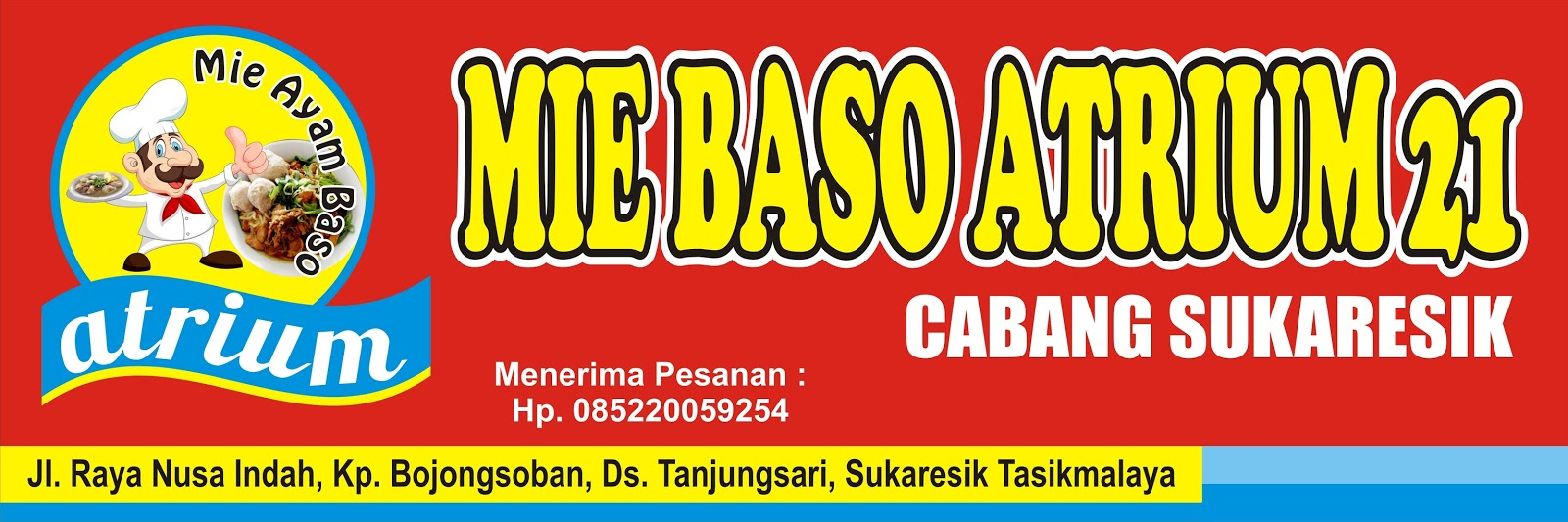 Contoh Baliho Warung Bakso - desain spanduk keren