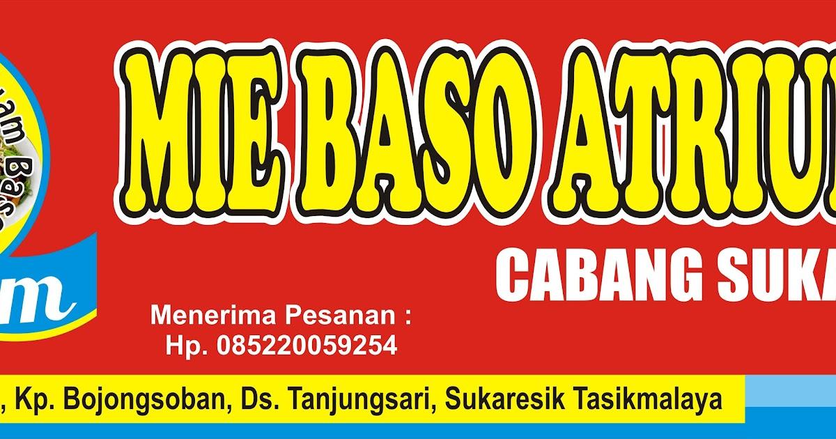 Banner Warung Mie Ayam Cdr - desain banner kekinian