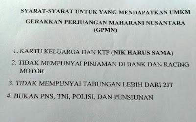 Ketua DPC PDIP OKI Abdiyanto : saya  Belum Tauh dan Paham Ada Bantuan UMKM (GPMN)