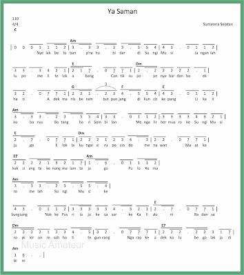not angka lagu ya saman 1