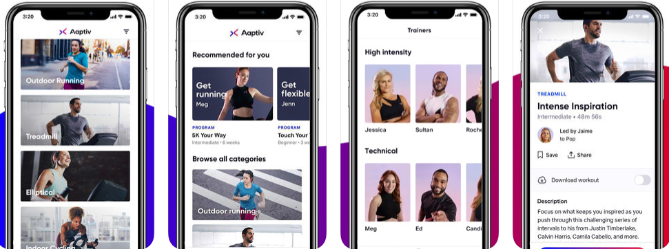 Aaptiv Fitness iOS App