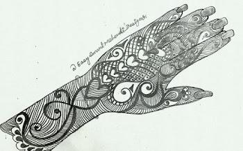 Mixed Snail Heart Mehndi Design