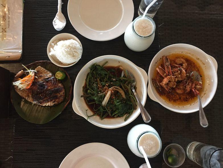 Seafood feast at Lantaw Seafood Restaurant