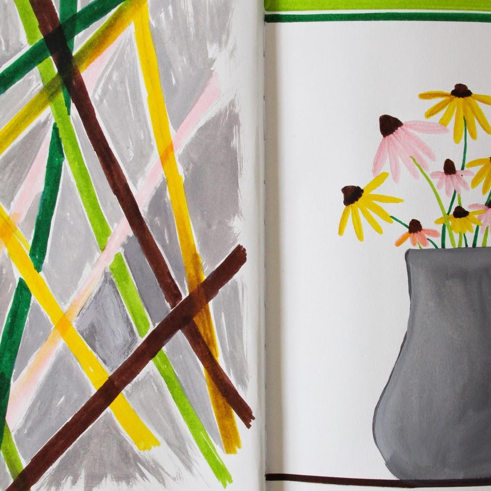 2x2 Sketchbook, 2x2, Anne Butera, Dana Barbieri, Sketchbook, Markers, Gouache