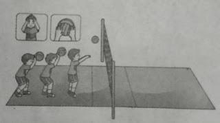 Variasi Gerak Menekuk dan Mendorong dengan Kombinasi Mengoper Bola