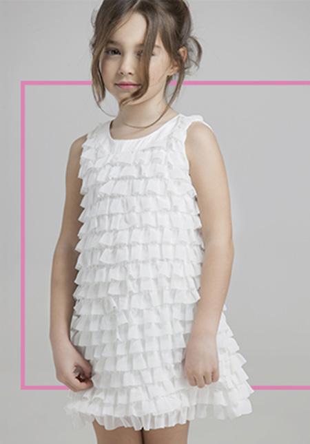 Vestidos de nena moda primavera verano 2018. Vestidos de fiesta para nenas 2018.
