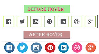 Add Beautiful Social Media Icons with hover effect