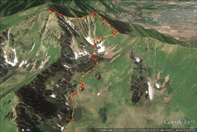 Spanish Fork Peak trail map