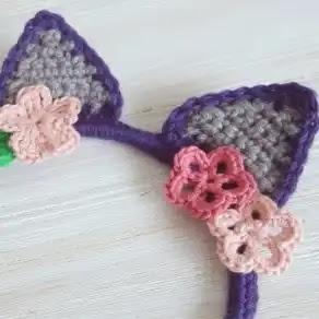 Diadema Orejas de Gato a Crochet