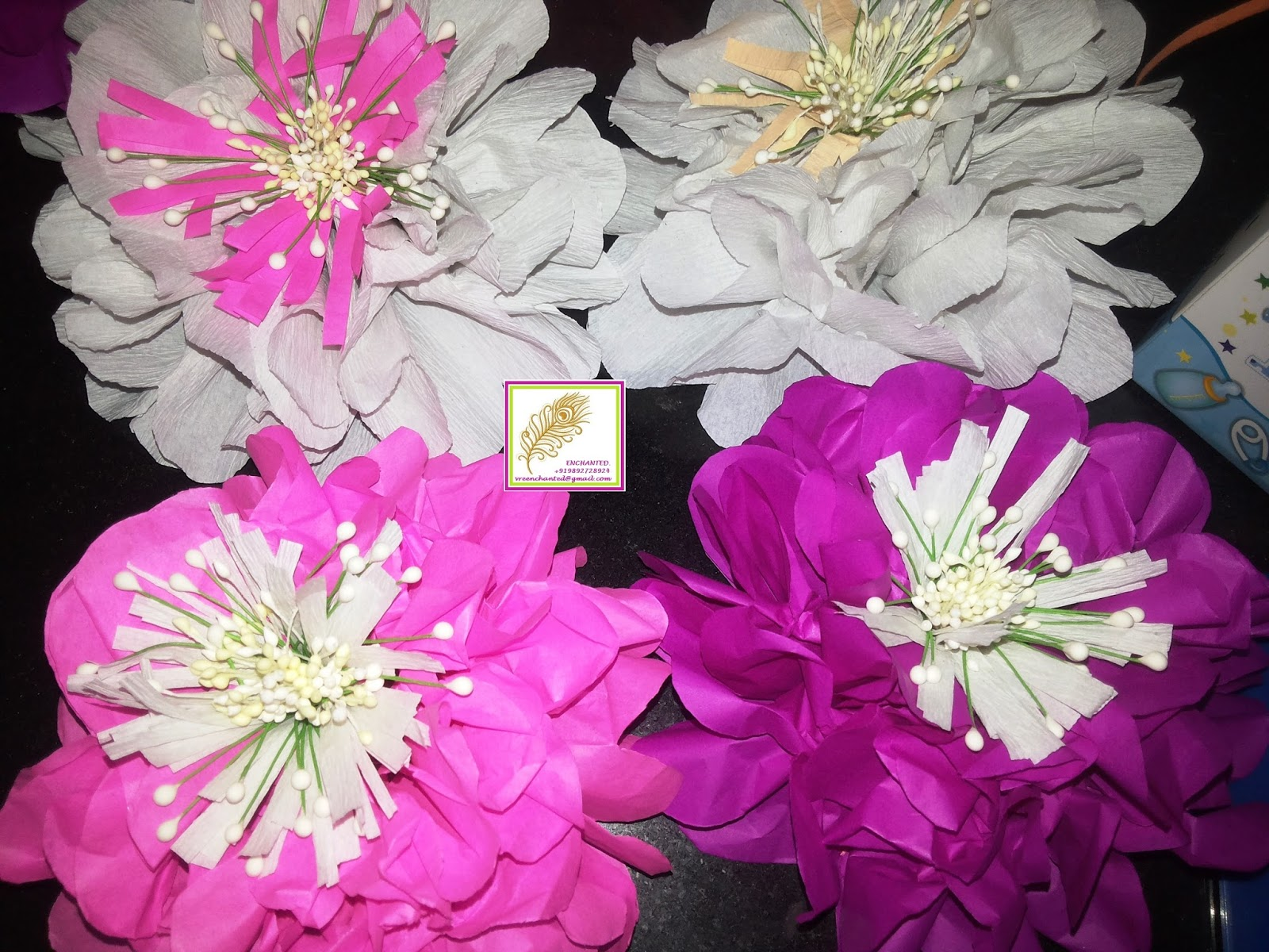 Vrenchanted Color Craft More Tissue Paper Flowers