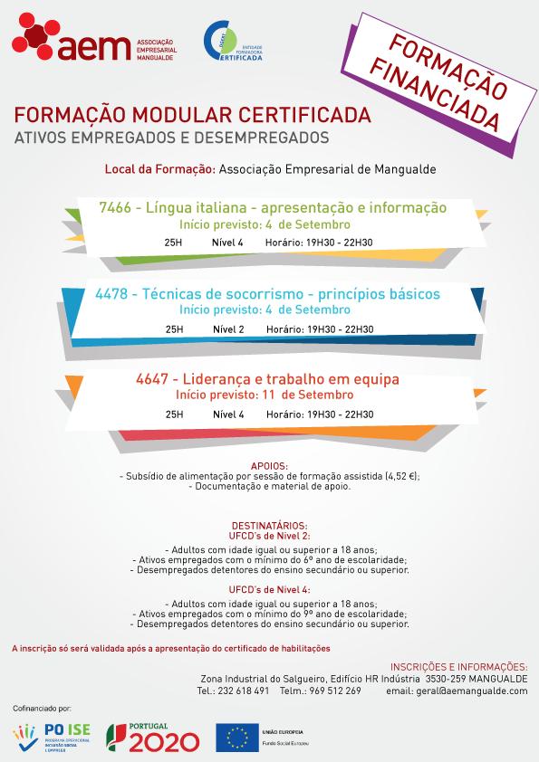 formação financiada em Mangualde