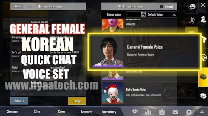 Active.sav | General Female Korean Quick Chat Voice Set for PUBG Mobile