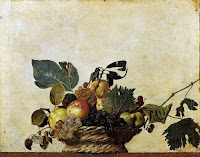 Basket of Fruit by Michelangelo Merisi da Caravaggio Caravaggio, early Baroque Period circa 1599