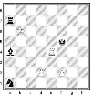 Estudio artístico de ajedrez compuesto por N. Ryabinin (1º Premio, 64, 1989)