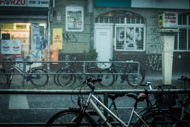 ベルリン、8月、雨
