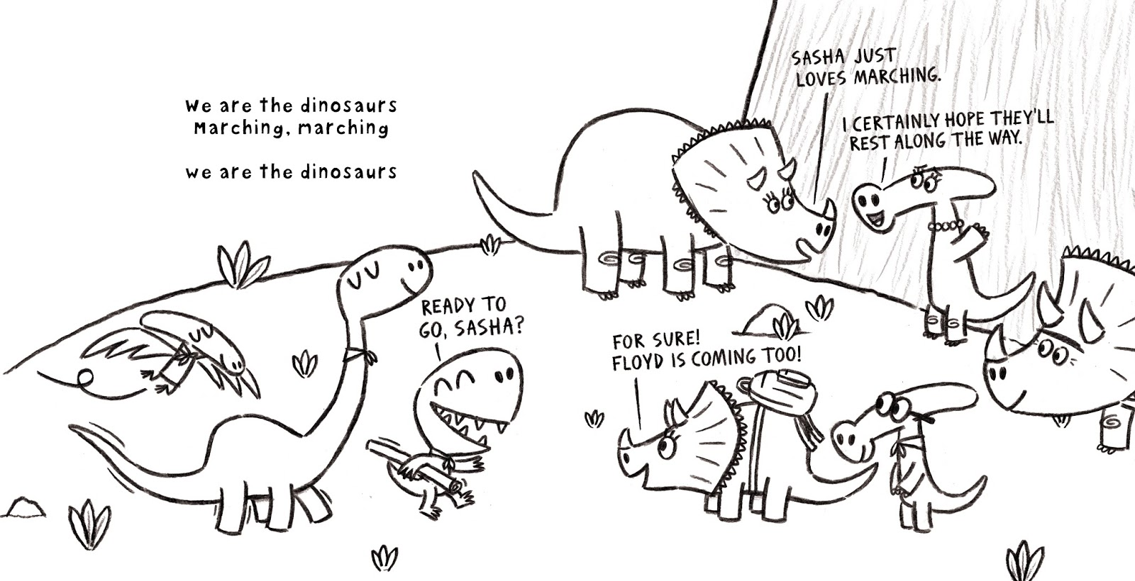 Ben Clanton's Squiggles and Scribbles: WE ARE THE DINOSAURS
