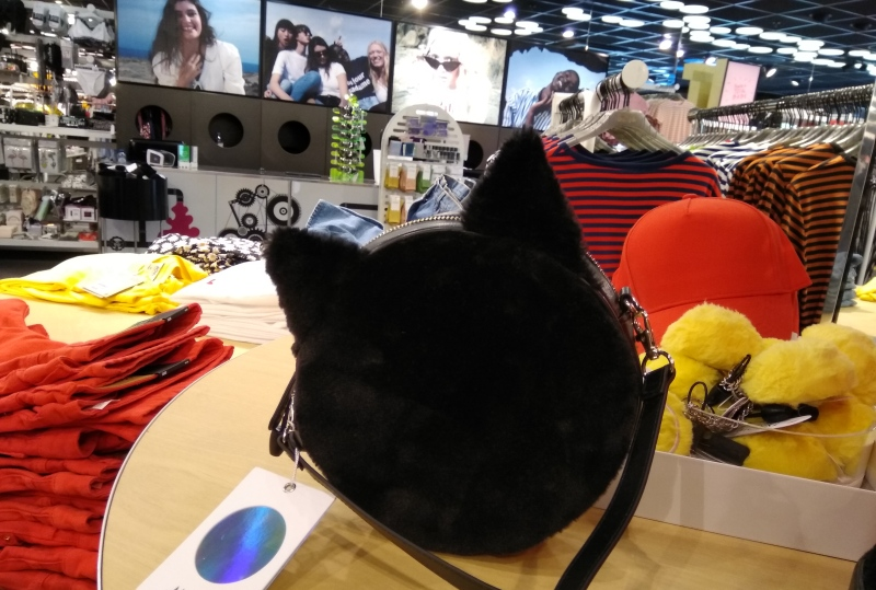 black cat ears bag round front monki store rotterdam
