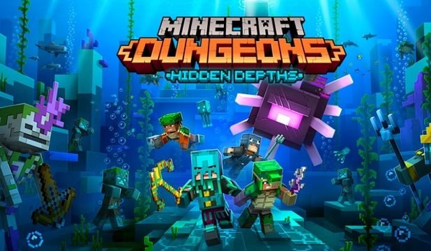 Minecraft Dungeons 'Hidden Depths' DLC is officially coming May 26 with new 'Raid Captains'