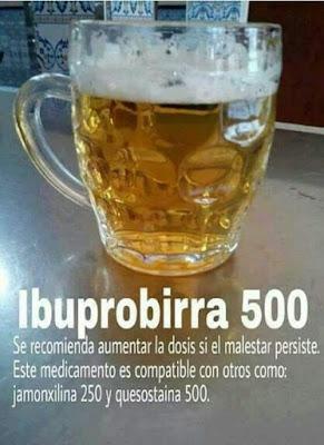 Ibuprobirra 500, jamonxilina, quesostaina
