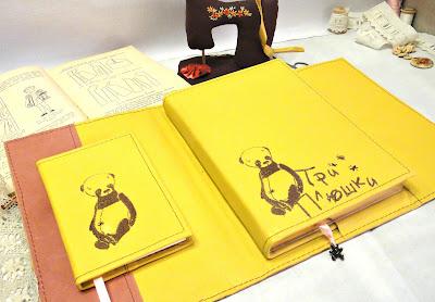 Кожаный ежедневник и записная книжка - подарок женщине, подарок девушке