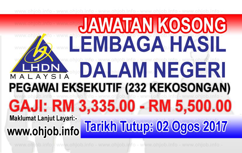 Jawatan Kerja Kosong Lembaga Hasil Dalam Negeri - LHDN logo www.ohjob.info ogos 2017
