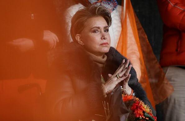 Grand Duchess Maria Teresa took part in a solidarity march against violence against women. Orange Week 2019