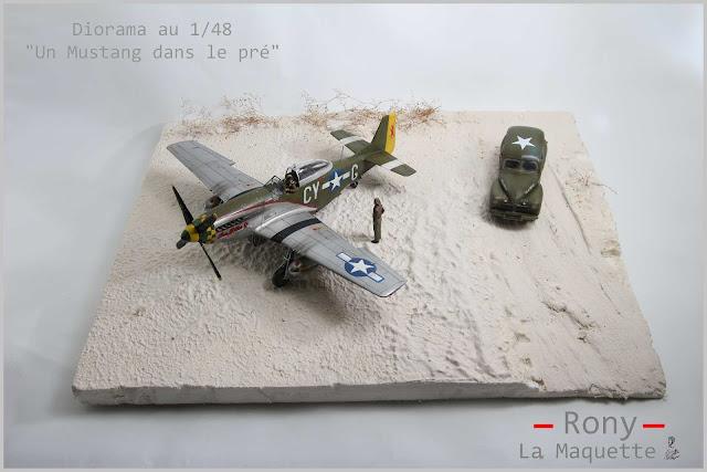 Création de la base du diorama P-51D mustang de Tamiya au 1/48.