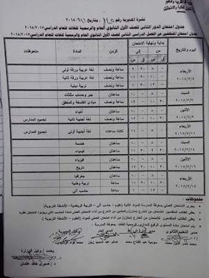 مواعيد وجداول امتحانات الدور الثانى للمراحل الابتدائية والاعدادية والثانوية بمحافظة قنا