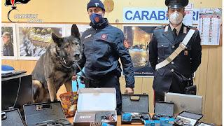Carabinieri della Stazione di Piazza Dante, sequestro armi clandestine modificate San Cristoforo