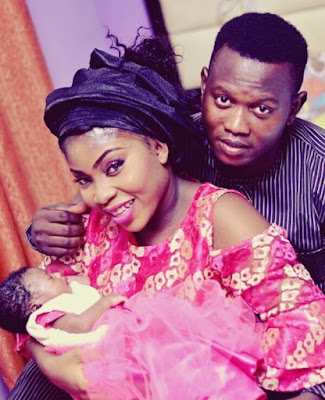 Photos: Nigerian man buys brand new car for his wife after she exclusively breastfed their daughter for six months