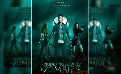 Photoshop Tutorial Latest Action Movie Poster Design Zombie Shooter