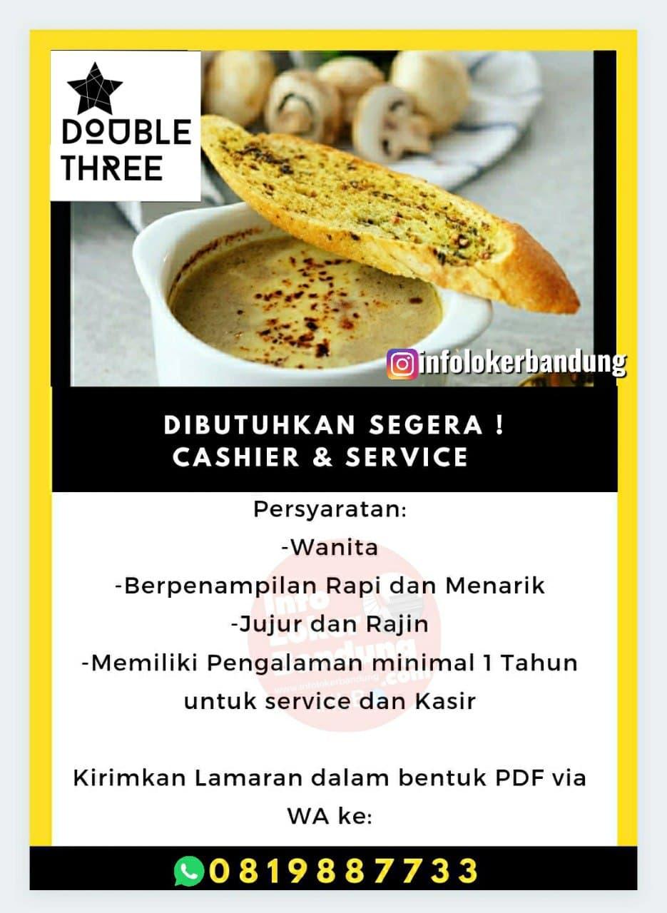 Lowongan Kerja Double Three Cafe Bandung Maret 2021
